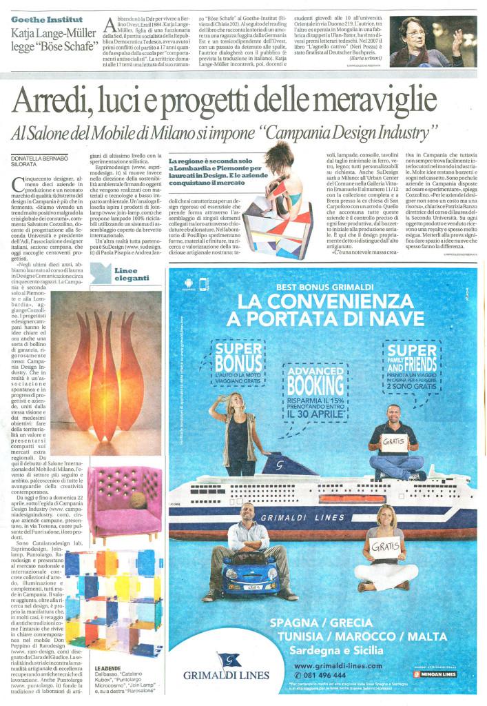 La Repubblica - Aprile 2012